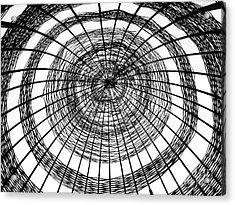 Abstract Bamboo Construction Acrylic Print by Yali Shi