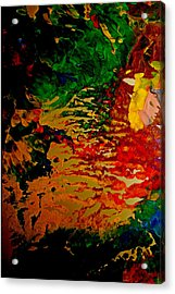 Abstract Colors Acrylic Print by Gloria Warren