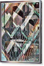Acrylic Print featuring the digital art Abstract Concrete by Ginny Schmidt