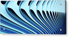 Abstract Curved Lines, Diminishing Perspective Acrylic Print by Ralf Hiemisch
