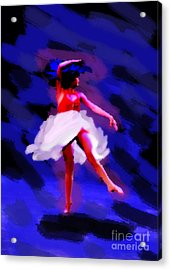 Abstract Dancer Acrylic Print by Val Armstrong