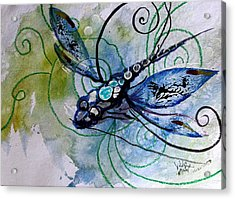 Abstract Dragonfly 10 Acrylic Print by J Vincent Scarpace