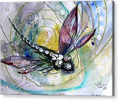 Abstract Dragonfly 11 Acrylic Print by J Vincent Scarpace