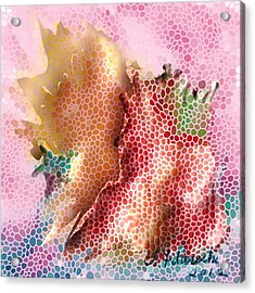 Abstract Floral Painting Acrylic Print