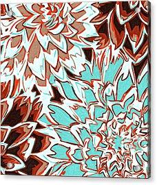 Abstract Flower 17 Acrylic Print by Sumit Mehndiratta