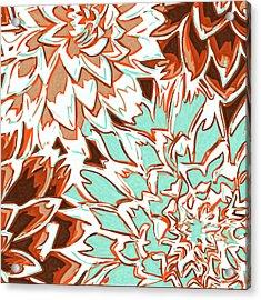 Abstract Flowers 12 Acrylic Print by Sumit Mehndiratta