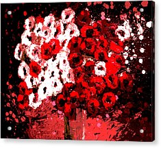 Abstract Flowers By Shawna Erback Acrylic Print by Shawna Erback