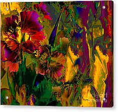 Abstract Flowers Acrylic Print by Doris Wood