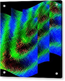 Abstract Fusion 130 Acrylic Print by Will Borden