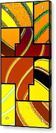 Abstract Fusion 92 Acrylic Print by Will Borden