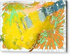 Abstract Guitar Acrylic Print by David G Paul