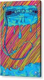 Abstract Handbag Drips Color Acrylic Print by Kenal Louis