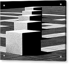 Abstract In Black And White Acrylic Print by Tam Graff