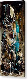 Abstract In Blue And Brown Acrylic Print