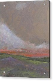 Abstract Landscape - Scarlet Light Acrylic Print