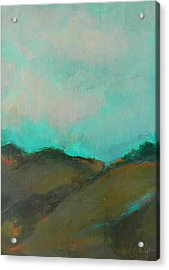 Abstract Landscape - Turquoise Sky Acrylic Print