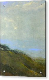 Abstract Landscape - Green Hillside Acrylic Print