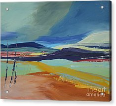 Abstract Landscape No.1 Acrylic Print by Barbara Tibbets
