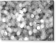 Abstract Lights Monochrome Acrylic Print