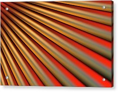 Abstract Line Pattern Acrylic Print by Ralf Hiemisch