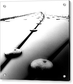 #abstract #lines In #blackandwhite. #bw Acrylic Print