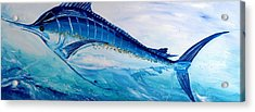 Abstract Marlin Acrylic Print by J Vincent Scarpace