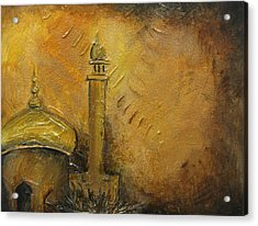 Abstract Mosque Acrylic Print by Salwa  Najm