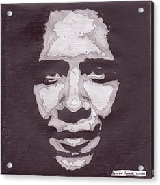 Abstract Obama Acrylic Print by Angel Roque