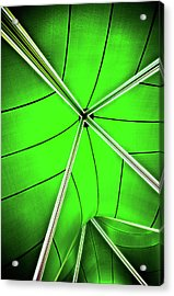 Abstract Of Green Acrylic Print by Meirion Matthias