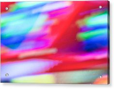 Abstract Oil Background Acrylic Print by Tom Gowanlock