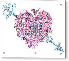 Abstract Pattern Valentine Acrylic Print by Regina Valluzzi