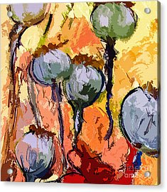 Abstract Poppy Pods Square Format Acrylic Print by Ginette Callaway