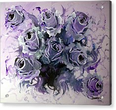 Abstract Roses Bouquet Acrylic Print