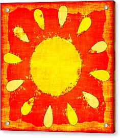 Abstract Sun Acrylic Print by David G Paul