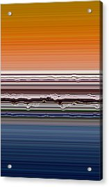 Abstract Sunset Acrylic Print by Michelle Calkins