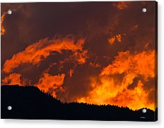 Abstract Sunset Acrylic Print by Mitch Shindelbower