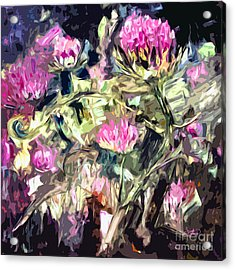 Abstract Thistles Modern Art Square Format Acrylic Print