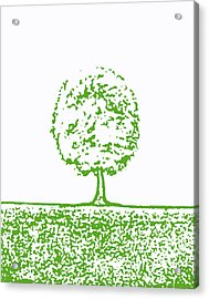 Abstract Tree By Shawna Erback Acrylic Print by Shawna Erback