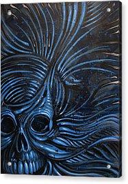 Abstracted Skull Acrylic Print by Joshua Dixon