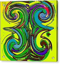 Abstracto Del Lunes 2 Acrylic Print by Rod Saavedra-Ferrere