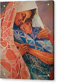 Abuela Two Acrylic Print by Judith A Smothers