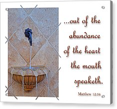 Abundance Of The Heart Acrylic Print by Larry Bishop