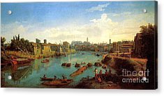 Accademia Nazionale Di San Luca By Caspar Van Wittel Acrylic Print by Pg Reproductions