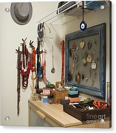 Accessories Storage Acrylic Print by Ben Sandall