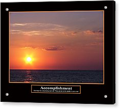 Accomplishment Acrylic Print by Kevin Brant