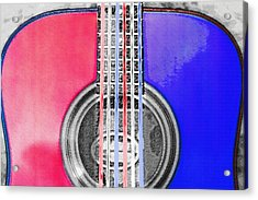 Acoustic Guitar - Americana Acrylic Print by Steve Ohlsen