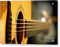 Acoustic Guitar Acrylic Print by Gib Martinez