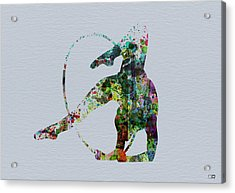 Acrobatic Dancer Acrylic Print