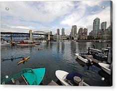 Acrylic Print featuring the photograph Across False Creek by John Schneider