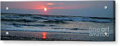 Acrylic Print featuring the photograph Across The Sea by Linda Mesibov